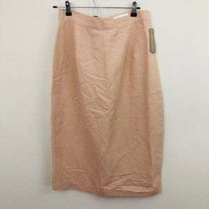 NWT! Casual Corner Pink Linen Pencil Skirt 14